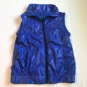 Lorna Jane Royal Blue Vest LJ Black